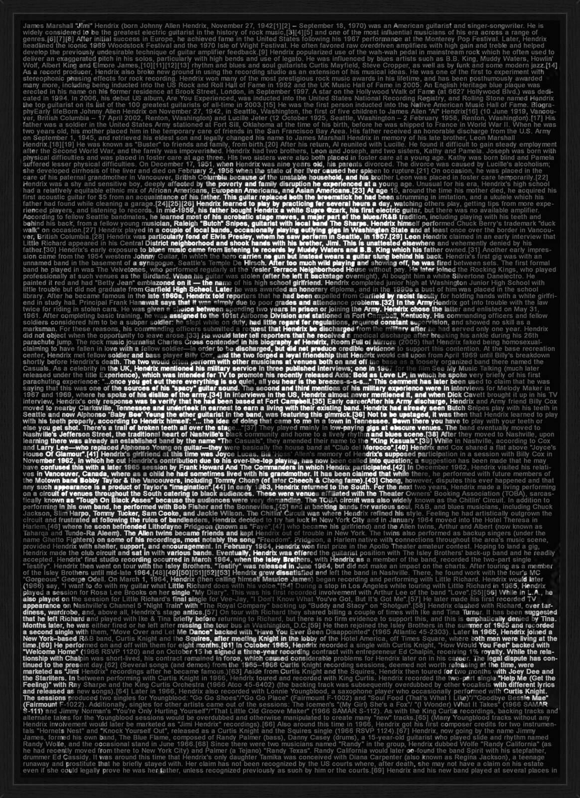 Jimi Hendrix By Ralph Ueltzhoeffer